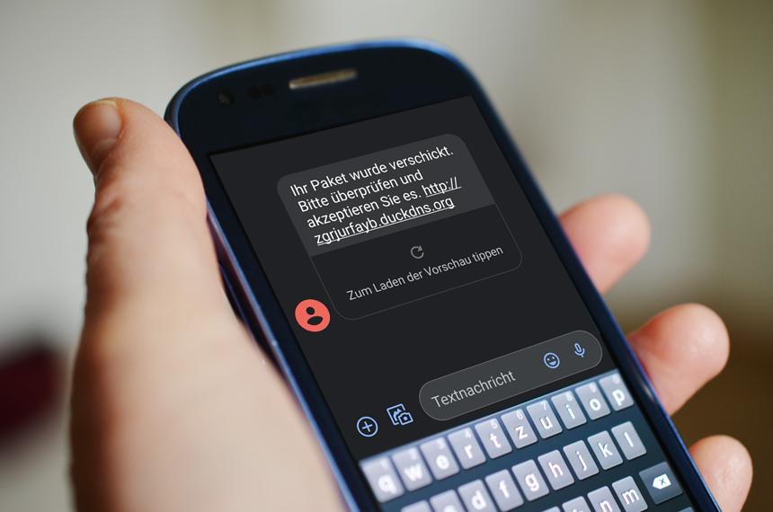 Eine neue Welle massenhafter Betrugsfälle: Smishing (SMS-Phishing)